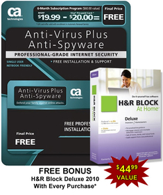 Computer Associates AVPS7BPCCTD1E Ca Antivirus Plus Software - 6 Month Subscription. Bonus, Free H&R Block At Home Deluxe