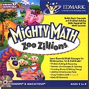 Edmark LLMIGMAZZJ Mighty Math Zoo Zillions