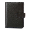 Travelon Leather Safe ID Color Block Bi-Fold Tab Wallet, Black