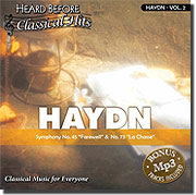 Selectmedia Entertainment schbchy02j Heard Before Classical Hits: Haydn Vol. 2 (Audio)