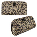 Travelon Jewelry and Cosmetic Clutch with Removable Center Pouch, Leopard
