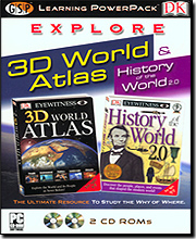 Dorling Kindersley Multimedia 00195 Explore 3D World Atlas Learning Power Pack