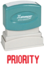 Xstamper 1033 1-Color Pre-Inked Title Stamp reads: