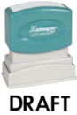 Xstamper 1068 1-Color Pre-Ink Title Stamp reads: