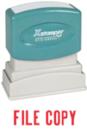 Xstamper 1071 1-Color Pre-Inked Title Stamp reads: