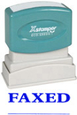Xstamper 1229 Title Stamp - Faxed, Blue, 1/2