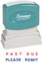 Xstamper 2015 2-Color Pre-Inked Title Stamp - Impression Size: 1/2