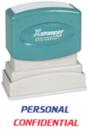 Xstamper 2029 2-Color Pre-Inked Title Stamp reads: