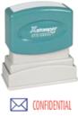 Xstamper 2034 2-Color Pre-Inked Title Stamp Reads: