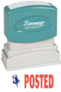 Xstamper 2038 2-Color Pre-Inked Title Stamp reads: