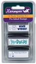 Xstamper 35205 VX, Teacher Stamps, Kit 1, 'Nice Work' - 'Great Job' - 'Please Sign'
