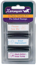 Xstamper 35208 VX, Teacher Stamps, Kit 4, 'Please See Me' - 'Much Better' - 'Great Improvement'