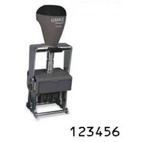 Xstamper 40220 Steel Self-Inking, Number Stamp, Size: 1 / 6-Band