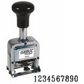 Xstamper 40246 Self-Inking, Automatic Number Stamp, Size: 1 / 10-Band