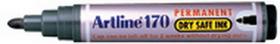 Xstamper 47345 BLACK EK-170, Artline Dry Safe, Permanent Marker