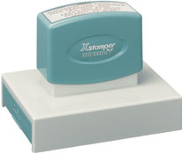 "Xstamper N28-000 Pre-Inked, Xtra-Large Message Stamp, 2-9/16"" x 3-15/16"""