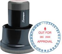 "Xstamper N77-112 XpeDater Rotary, Date Stamp, 1-3/16"" Diameter"