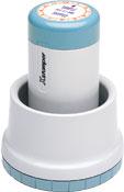 "Xstamper N78-000 XpeDater Rotary, Date & Time Stamp, 1-3/16"" Diameter"