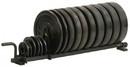 York Barbell 69041 Horizontal Plate Rack Black (Full Set)