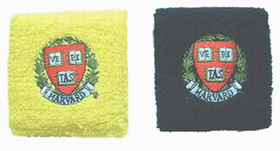 Thick Solid Color Embroidery Wristband - Harvard Logo, Price/12 pieces