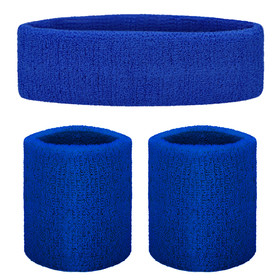 GOGO 10002 Terry Cloth Sports Sweatband Set(1 Headband + 2 Wristbands)