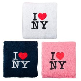 "GOGO 10006 3"" Embroidered ""I love NY"" Sports Wristband/Sweatband, Price/Piece"