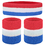 GOGO Patriot Style / NBA Style Stripe Sweatband Set (Price for 6 Sets)
