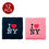 "GOGO ""I LOVE New York"" Embroidery Wristband 12PCS Mixed Colors"
