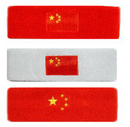 GOGO Thick Solid Color Head Band with Chinese National Flag Logo
