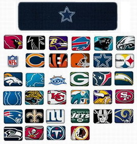 "GOGO 20008 7"" Embroidered NFL Team Logo Terry Cloth Sports Headband, Price/Piece"