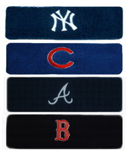 "GOGO 20009 7"" Embroidered MLB Team Logo Terry Cloth Sports Headband, Price/Piece"