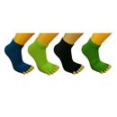 GOGO Half Toe Grip Yoga Socks, Non Slip Socks (Pack of 4)
