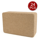 GOGO 24 PCS Slip Resistant Cork Yoga Block For Pilates, Eco Friendly Cork Blocks