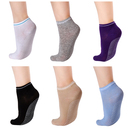 GOGO 6 Pairs Non Skid Socks, Cotton Socks with Grips for Women