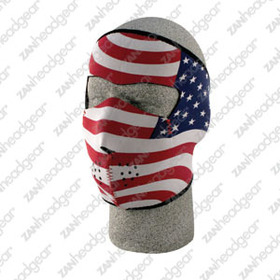 Zan Headgear Neoprene Face Mask, USA Flag, Stars & Stripes