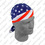 Zan Headgear Flydanna 100% Cotton, Flag, Stars & Stripes IV