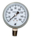 (10 Pcs @ $11.64 Pcs) Zenport APG160 68mm Ammonia Pressure Gauges, 0 - 160 psi