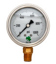 Zenport LPG1000 PRESSURE GAUGES - 63mm Glycerin 'Liquid' Filled Pressure Gauges, 0 - 1000 psi