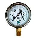 (10 Pcs @ $8.66 Pcs) Zenport LPG15 PRESSURE GAUGES - 63mm Glycerin 'Liquid' Filled Pressure Gauges, 0-15 psi