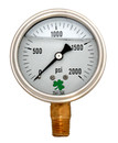 Zenport LPG2000 PRESSURE GAUGES - 63mm Glycerin 'Liquid' Filled Pressure Gauges, 0 - 2000 psi