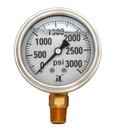 (10 Pcs @ $8.78 Pcs) Zenport LPG3000 PRESSURE GAUGES - 63mm Glycerin 'Liquid' Filled Pressure Gauges, 0 - 3000 psi