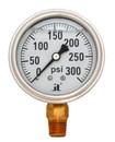 (10 Pcs @ $8.66 Pcs) Zenport LPG300 PRESSURE GAUGES - 63mm Glycerin 'Liquid' Filled Pressure Gauges, 0 - 300 psi