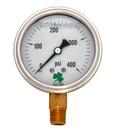 (10 Pcs @ $8.66 Pcs) Zenport LPG400 PRESSURE GAUGES - 63mm Glycerin 'Liquid' Filled Pressure Gauges, 0 - 400 psi