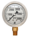 Zenport LPG5000 PRESSURE GAUGES - 63mm Glycerin 'Liquid' Filled Pressure Gauges, 0 - 5000 psi