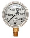 (10 Pcs @ $8.78 Pcs) Zenport LPG5000 PRESSURE GAUGES - 63mm Glycerin 'Liquid' Filled Pressure Gauges, 0 - 5000 psi