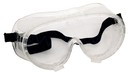 Zenport SG231 Clear Reinforced Border & Strap Chemical Splash Goggles, Fog Free