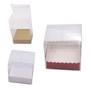 Aspire 48PCS Clear Favor Boxes with Insert, PVC Wedding Boxes