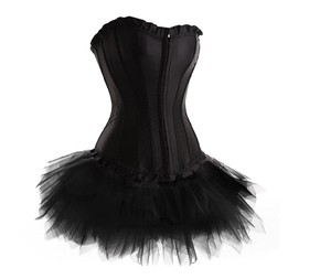 MUKA Women's Black Corset & Tutu, Gift Idea