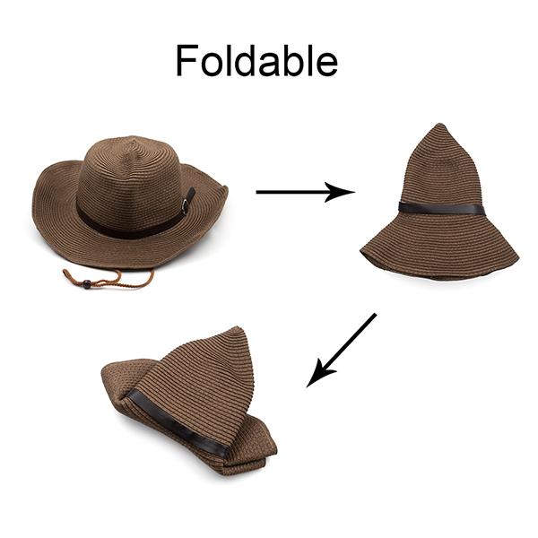 182a1fbdf2a Opentip.com  Opromo Unisex Wide Brim Straw Cowboy Hats Western ...
