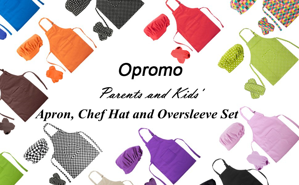Apron, Chef Hat and Oversleeve Set